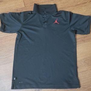 Jordan black polo